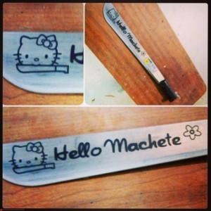 Laser Engraved Machete Richmond VA Knife