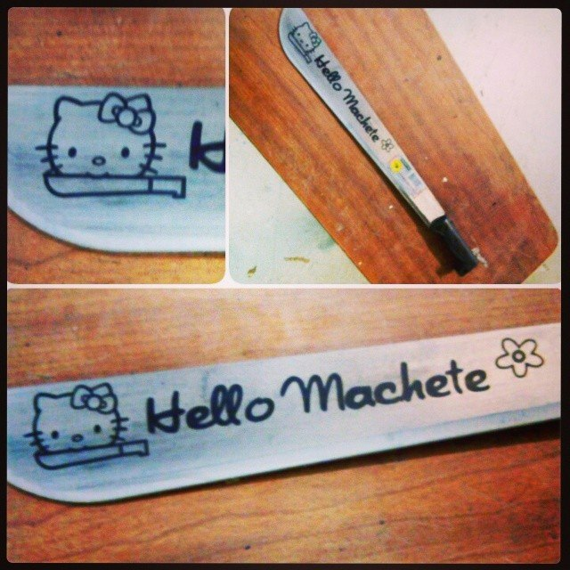 Laser Engraved Machete Richmond VA Knife