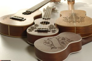 Engraved Ukuleles