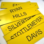 Plastic Nameplates Engraved Tags