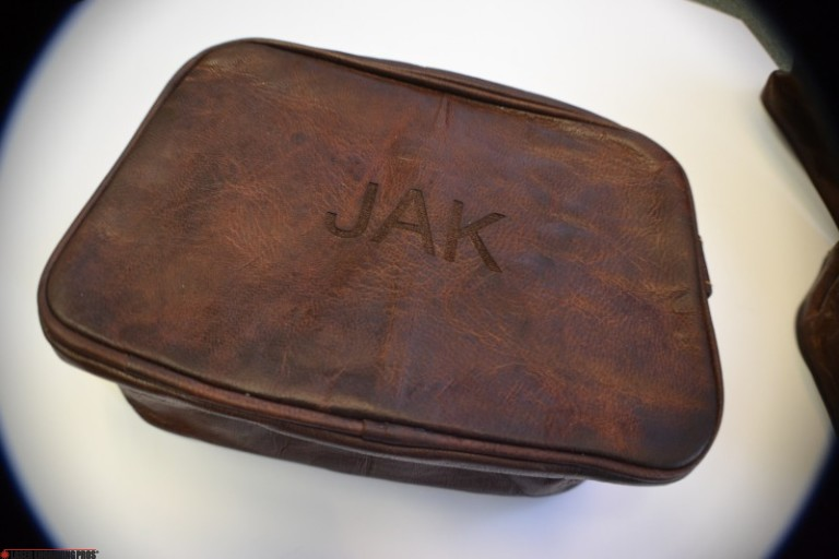 Etched Leather Bag For Gentleman