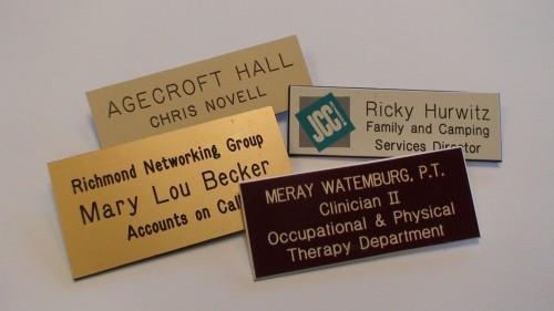 Plastic Engraved Nametags Richmond VA