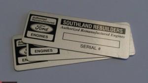 Aluminum Serialized Plates