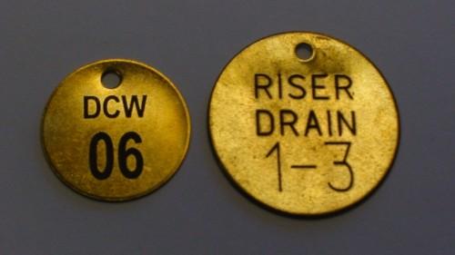 Brass Valve Tags Custom Engraved