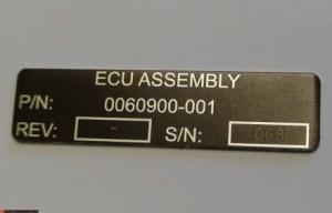 Engraved Aluminum Tag Richmond VA