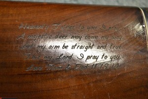 Engraved Shotgun Stock