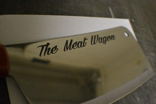 Laser Engraved Meat Cleaver Engraved Knife