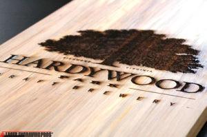 Custom Engraved Wood Hardywood brewer