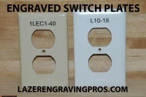 Switch Plate Engraving
