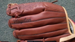 Laser Engraved Baseball Glove