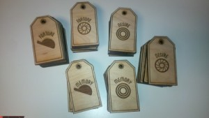 Laser Cutting Engraved Wooden Tags