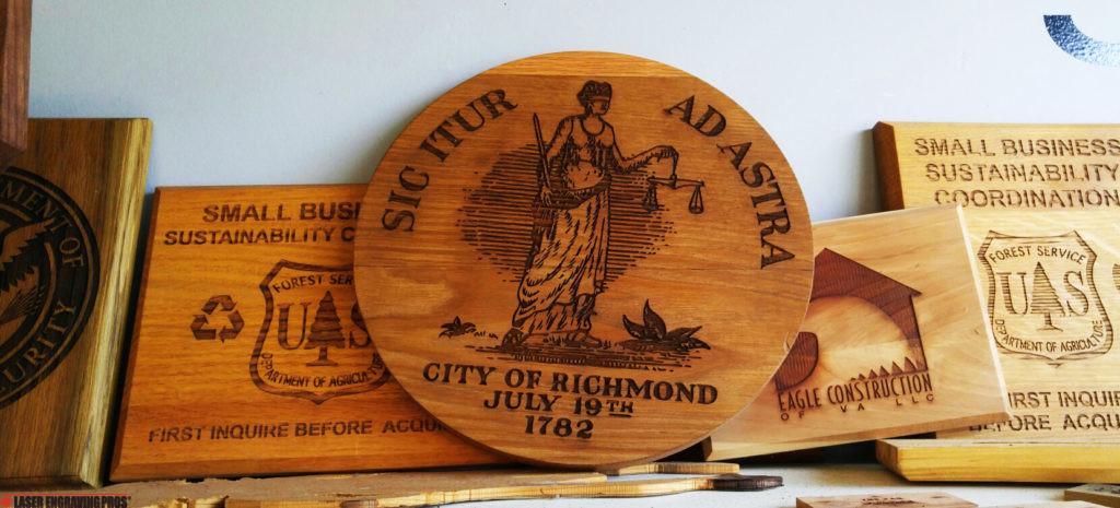 WOOD ENGRAVING RICHMOND CITY