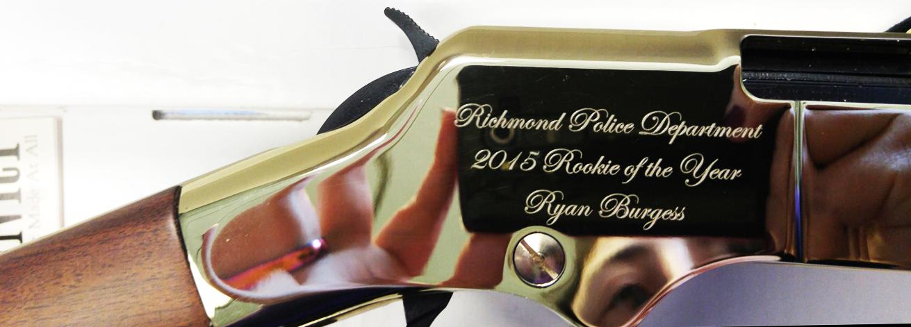 .22 rifle engraving