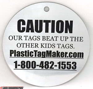 Engraved Plastic Warning Tags