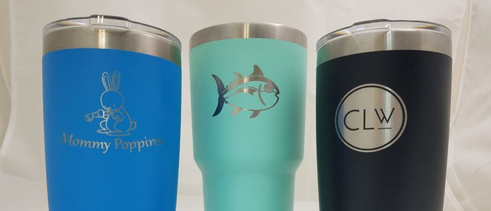 Engraved Tahoe Blue Yeti Cups