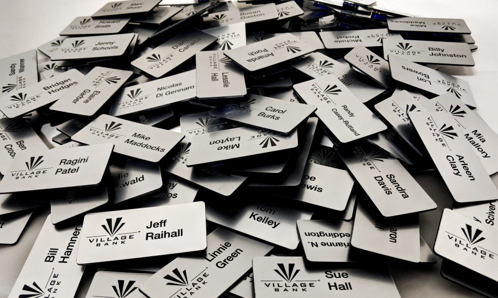 wholesale business name tags custom engraved laser engraving pros Nameplates Engraving aluminum tags stainless tags