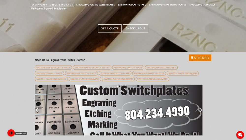 engraving switchplates