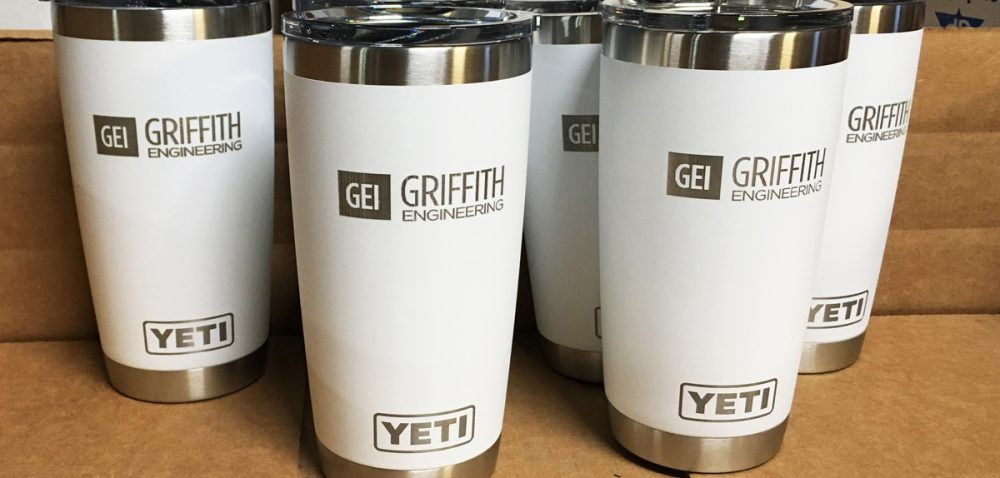 Engraved White Yeti