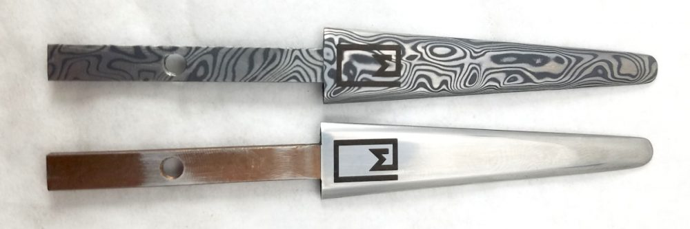 etching stainless knives